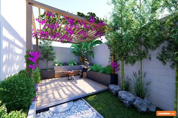 Thiết kế sân vườn cho nhà nhỏ như thế nào cho đúng?