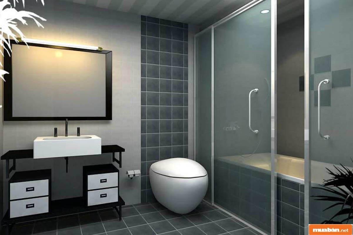 Nhà vệ sinh đẹp, đảm bảo kích thước giúp căn nhà mang đến tính liên kết cao hơn trong bố cục tổng thể
