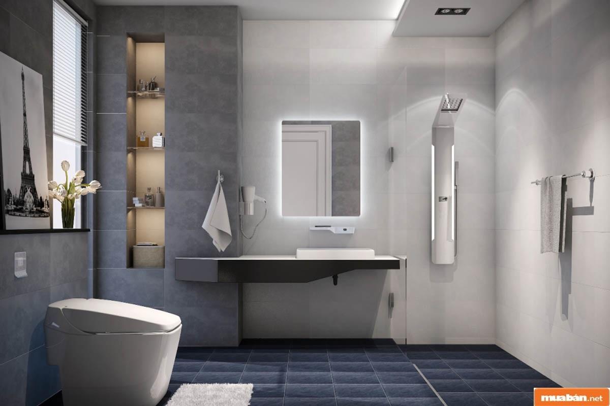 Kích thước nhà vệ sinh này thường được ứng dụng ở công trình biệt thự sang trọng