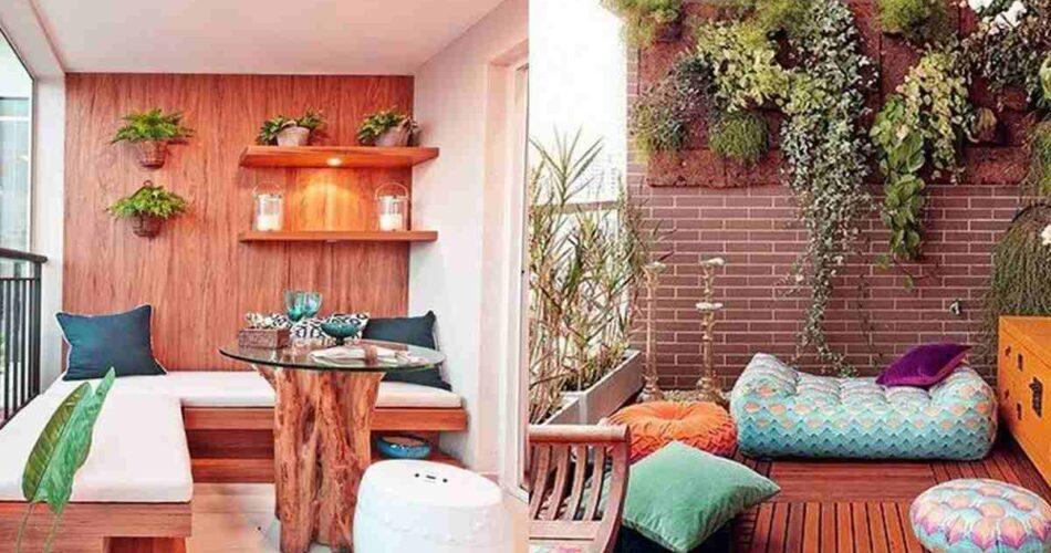 Trang trí không gian ban công bằng cây xanh và hoa
