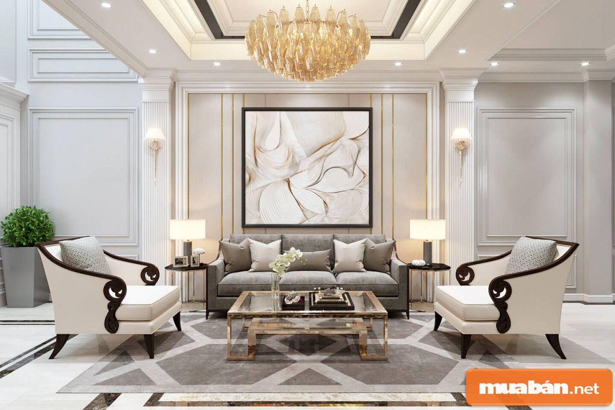 Cách bài trí của nội thất đều dựa vào tính cân bằng và đối xứng với nhau trong không gian.