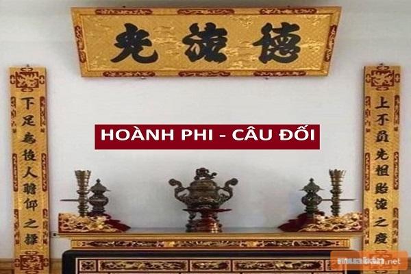 Hoành phi câu đối rất quen thuộc trong những kiến trúc Việt