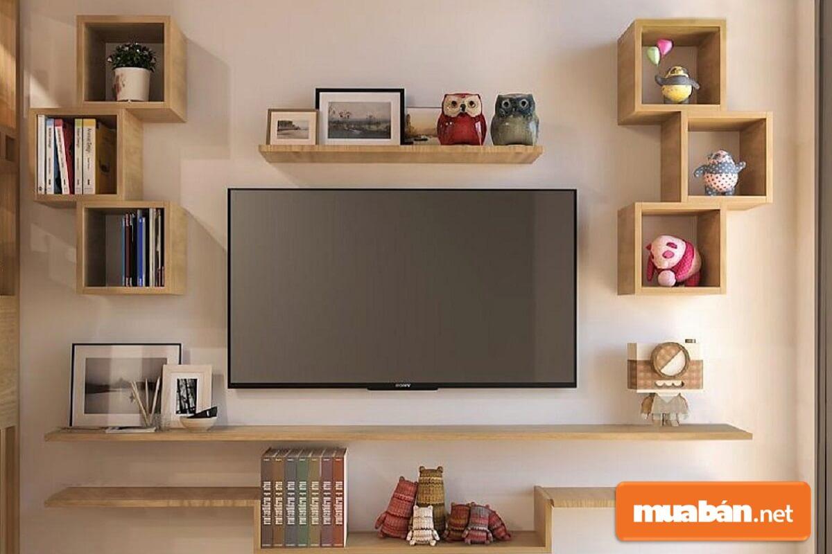 Trên thị trường đang án rất nhiều mẫu kệ đặt tivi với chất liệu khác nhau.