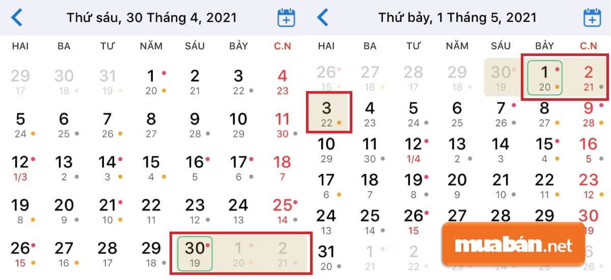 Nghỉ lễ 30/4 năm nay mấy ngày?