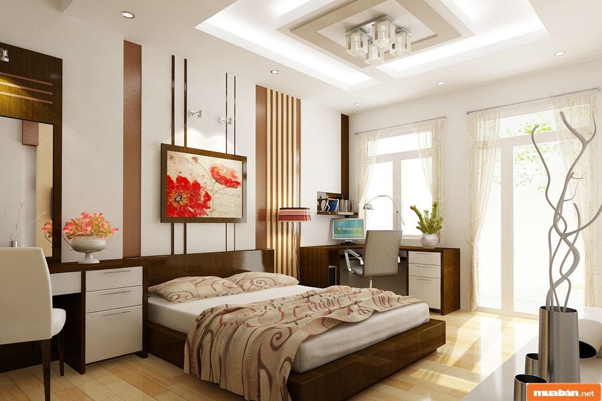 Đảm bảo được sự ngăn nắp, gọn gànglà tiêu chí cần được quan tâm hàng đầu khi thi công nội thất phòng ngủ