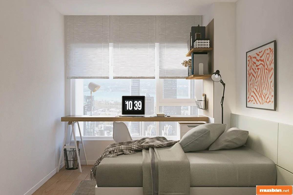 Màu sơn cho không gian phòng ngủ nên cân bằng ở gam trung tính, nhẹ nhàng