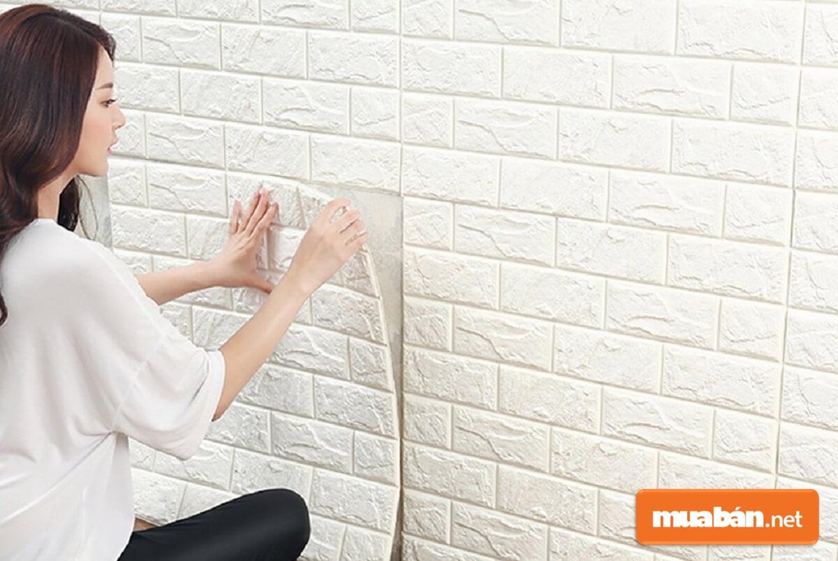 Xốp dán tường cách âm thường dùng để thi công vách ngăn hoặc tường cách âm.