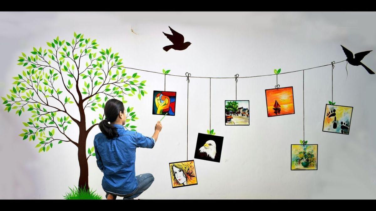 Vẽ tranh tường trang trí là một lựa chọn tuyệt vời