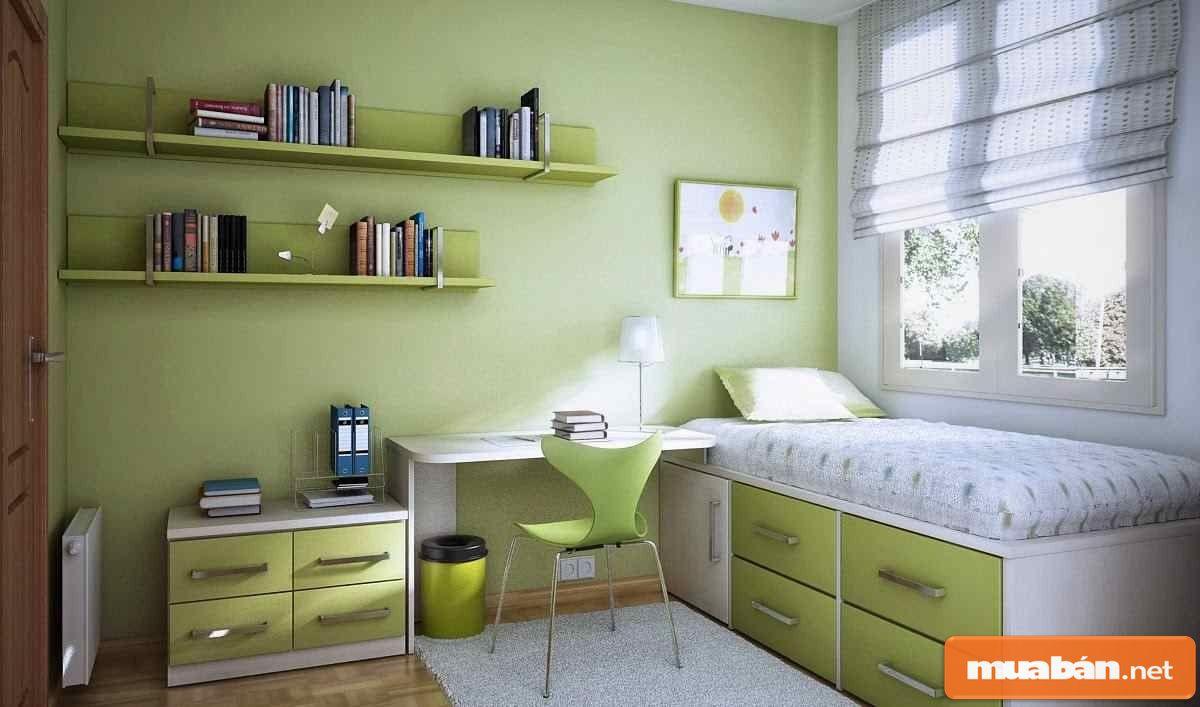 Bạn nên lựa chọn những màu sắc tươi sáng để giúp không gian rộng rãi, thoáng mát.