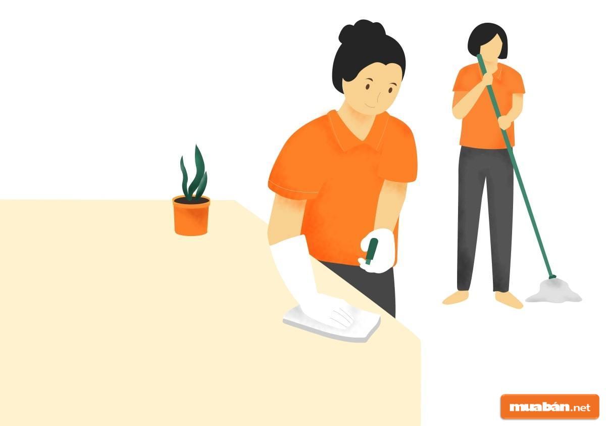 Giúp việc theo giờ là công việc có nhiều cơ hội với mức thu nhập cao