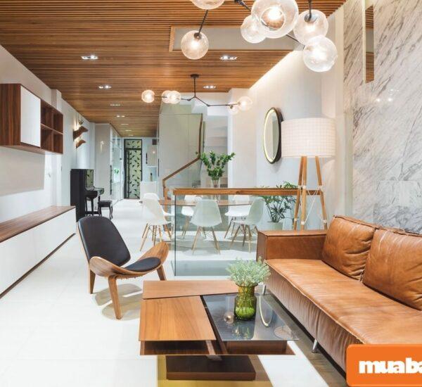 Lưu ý để thiết kế phòng khách nhà ống đẹp, hợp phong thủy