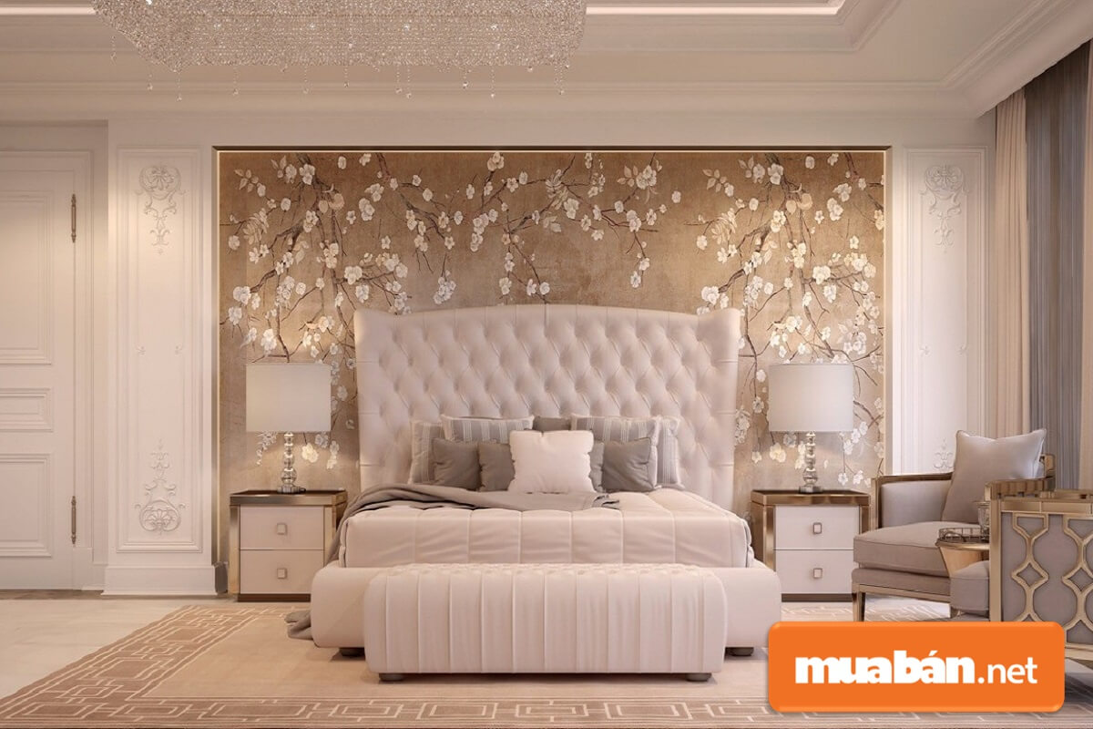 Tab đầu giường kiểu cổ điển thường có những nét chạm khắc công phu, tỉ mỉ, mềm mại.
