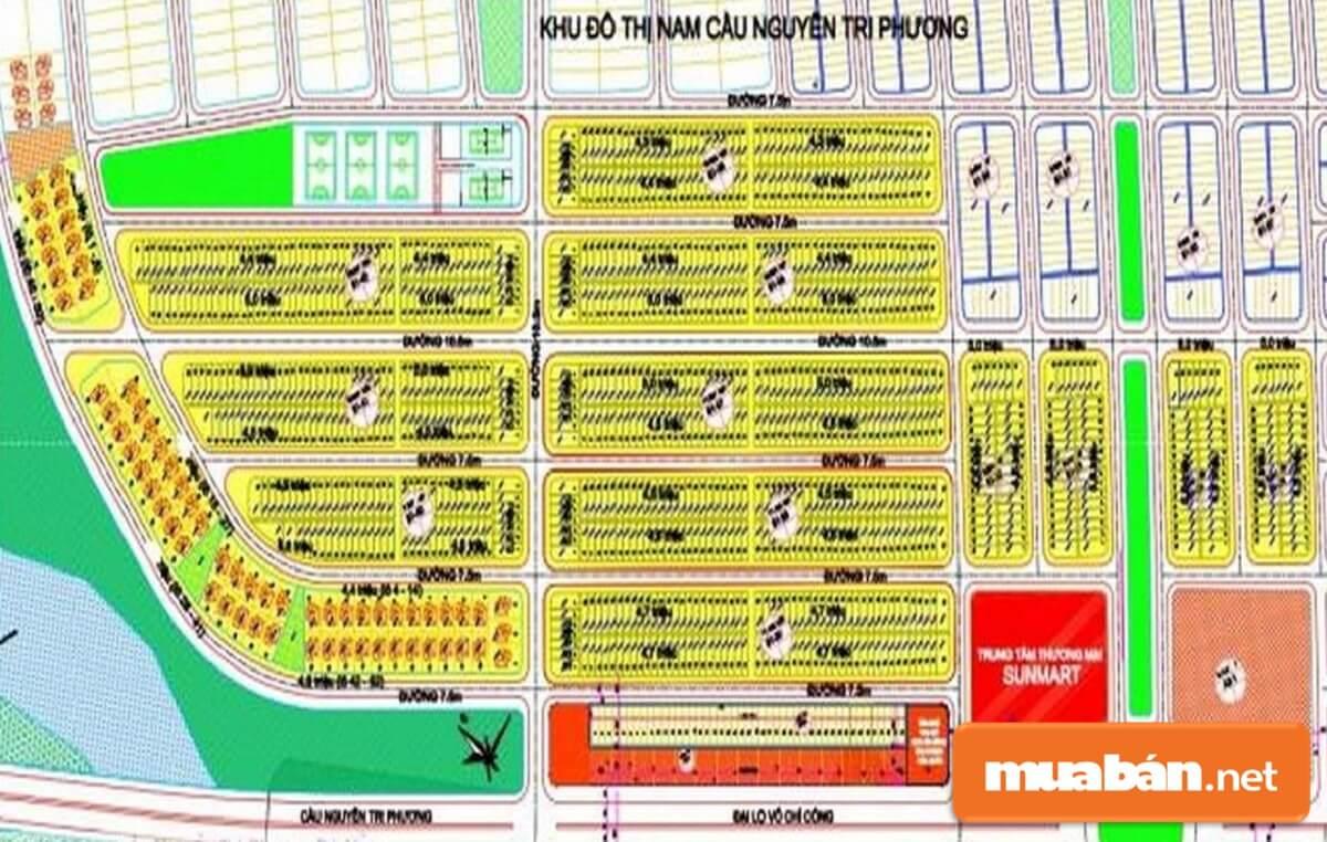 Khu đô thị Nam cầu Nguyễn Tri Phương Đà Nẵng có tổng diện tích là 150ha. Dự án do Tập đoàn Sun làm chủ đầu tư.