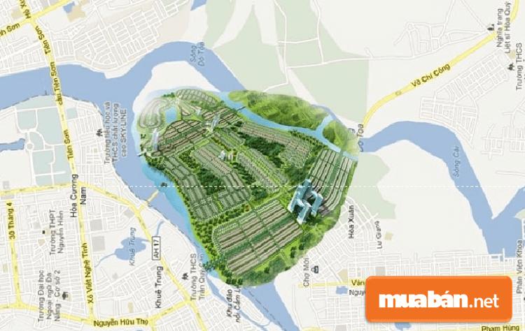 Khu đất dự án đất Nam cầu Nguyễn Tri Phương Đà Nẵng với 3 mặt giáp sông