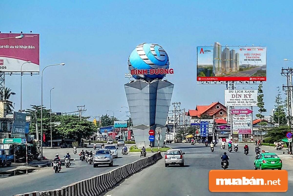 Dự án Quốc lộ 13 sẽ nâng cấp, mở rộng từ Cổng chào Vĩnh Phú đến điểm giao với đường Lê Hồng Phong.