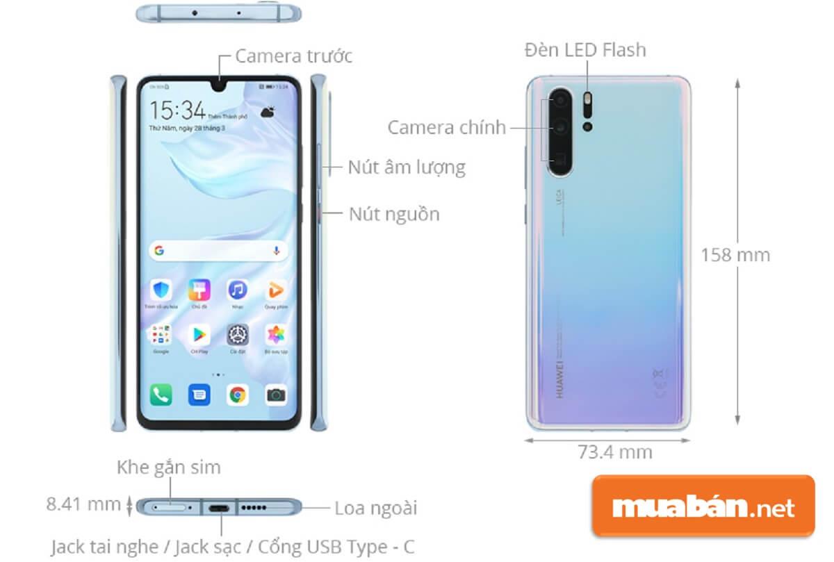 Giá Huawei P30 Pro cũ hiện đang được bán trên Muaban.net khá rẻ.