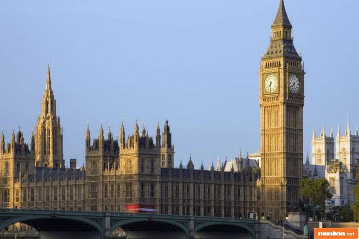 Tháp đồng hồ Big Ben ở Anh